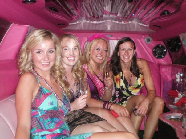 Pink limousine is nice