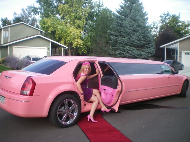 affordable pink limos