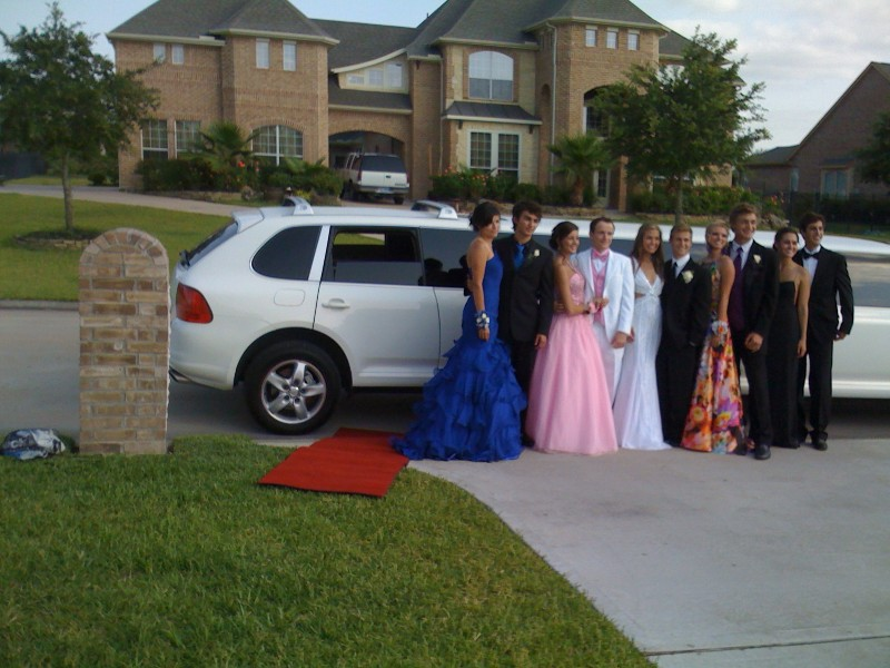 WE HAD RENTED PORSCHE LIMOUSINE FOR OUR PROM
