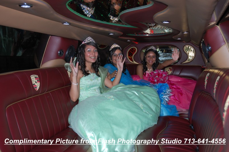 Houston Porsche limo for Quinceanera
