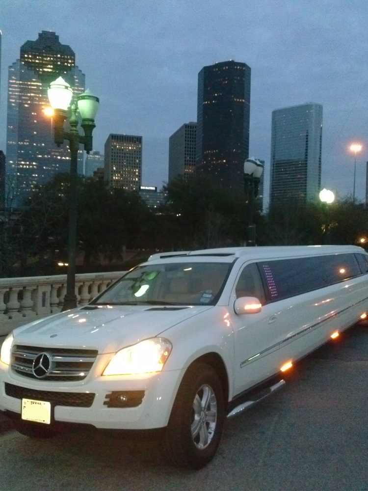 Mercedes 20 passenger houston down town limo service for Mercedes benz houston lease