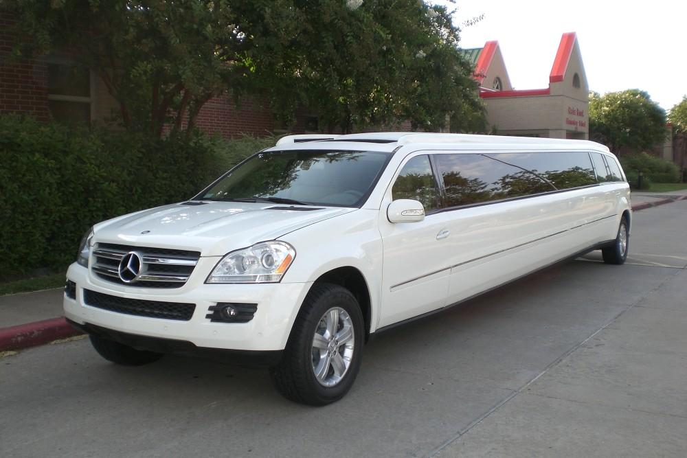Mercedes 20 passenger mercedes gl 450 outside 15 limo for Mercedes benz north houston