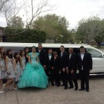 Mercedes limo for quinceanera