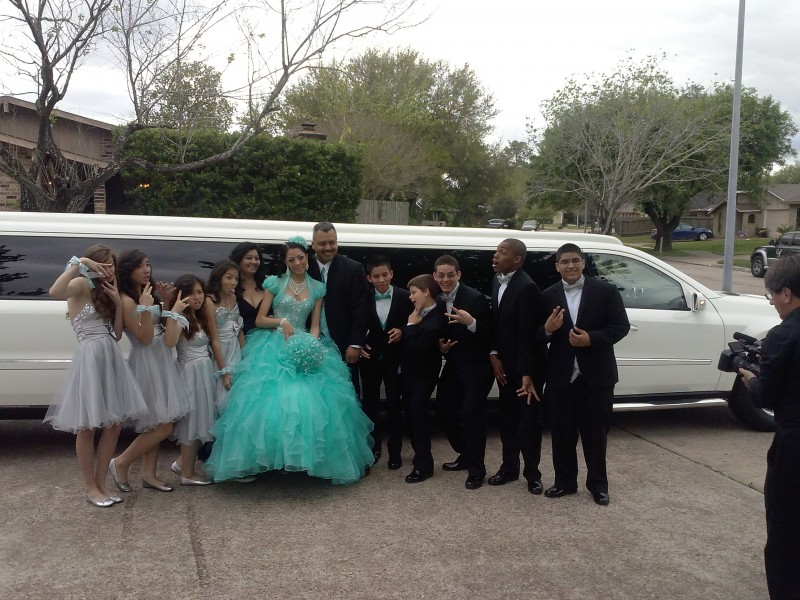 We rented a Mercedes Limo For my Qinceanera day