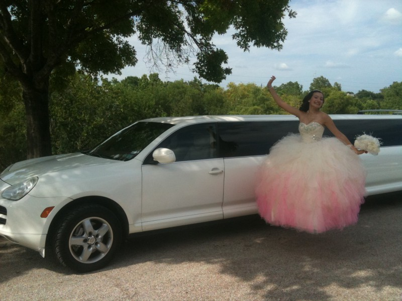 It is Nice to Ride in Porsche limousine for my Quinceanera