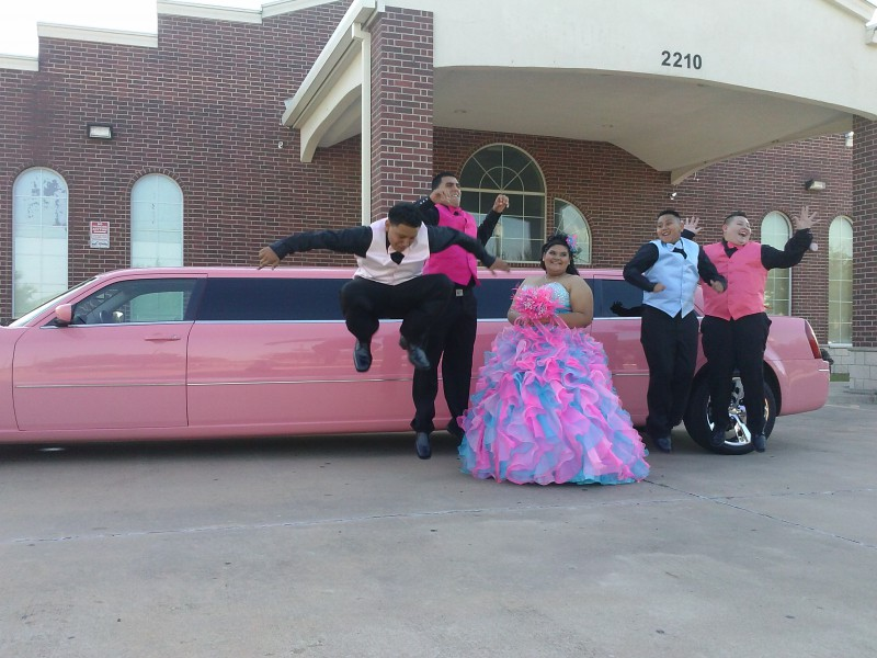 it is nice to ride in a pink limo