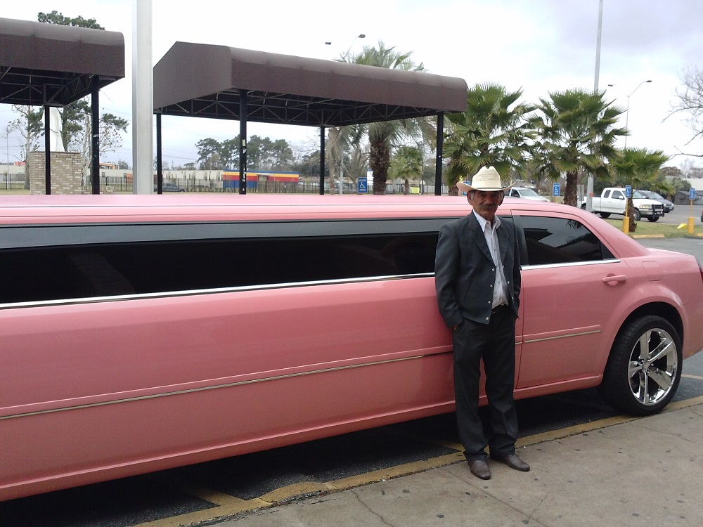 Pink limo for my grand daughter Quinceanera
