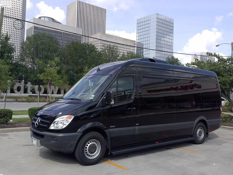 Mini party bus 15 passengers mini bus whith dance pole 5 for Mercedes benz rental houston