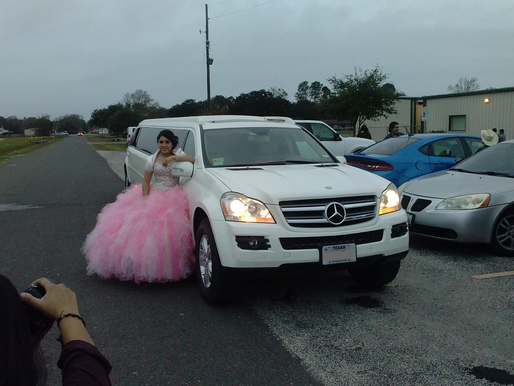 PICTURES IN FRON OF THE LIMO