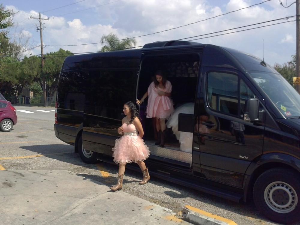 Quinceaneras party Bus