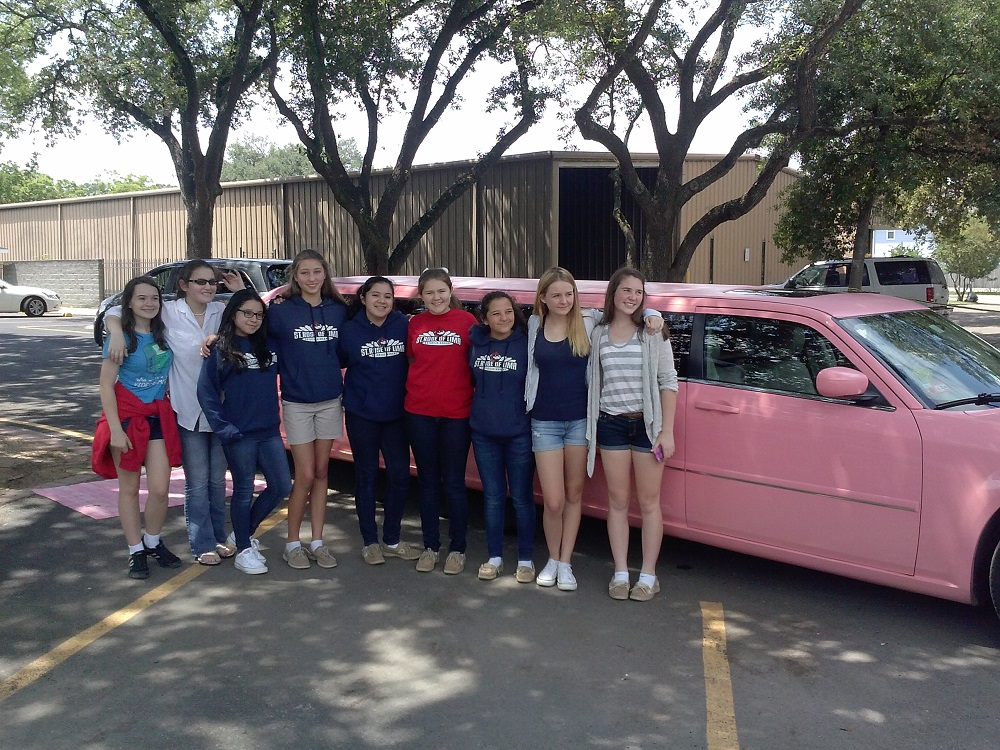 PINK LIMO RIDE