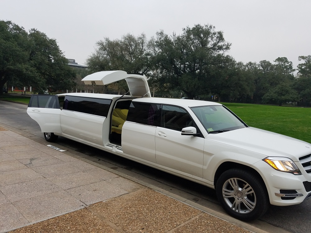 mercedes benz jet door 14 passengers limo service houston limousine. Black Bedroom Furniture Sets. Home Design Ideas