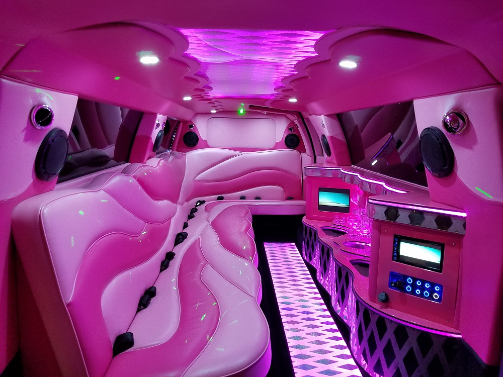 """Pink Dream"" 10 Passenger Chrysler Limo 